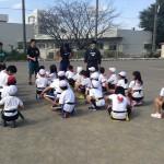子どもの体力向上プロジェクトの第2節「アスリートが授業参加」NECグリーンロケッツ
